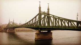 Freedom Bridge in Budapest, Hungary (misty morning) Royalty Free Stock Photography