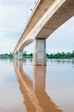 Freedom bridge in Laos Stock Photo