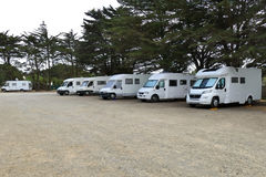 Freedom camping with camper motor homes Stock Image
