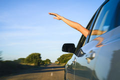 Freedom and car vacation travel concept Royalty Free Stock Images