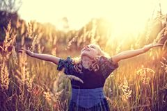 Freedom! carefree childhood Royalty Free Stock Image