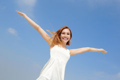 Freedom and Carefree woman Stock Image