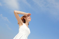 Freedom and Carefree woman Royalty Free Stock Photography