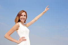 Freedom and Carefree woman Stock Photography