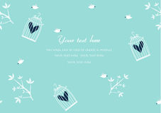 Freedom concept. Birds are free ,Design for romance cards,Vector Royalty Free Stock Photos