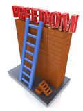 Freedom concept. Ladder leading to a better place Stock Photo