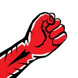 Freedom concept. vector red fist icon. Stock Photo