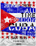 Freedom Cuba. Flag Poster Design Royalty Free Stock Photography