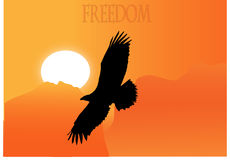 Freedom eagle. From yor text in vector eps Royalty Free Stock Image