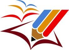 Freedom education logo. Illustration art of a freedom education logo with isolated background Royalty Free Stock Photo