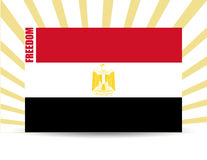 Freedom egypt flag Stock Photography