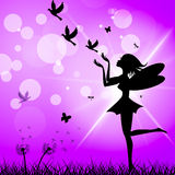 Freedom Fairy Represents Flock Of Birds And Elude Royalty Free Stock Image