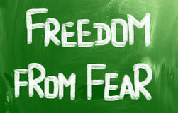 Freedom From Fear Concept. Concept Handwritten With Chalk On A Blackboard royalty free illustration