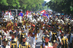 Freedom Fighters Day Parade Indonesia Stock Photo