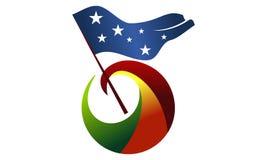 Freedom Flag Logo Design Template Royalty Free Stock Photos