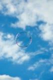 Freedom of flight. A single soap bubble enjoying its freedom on the summer breeze Stock Photo