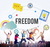 Freedom Free Inspiration Emancipation Independence Concept Royalty Free Stock Images