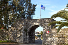 Freedom gate at Mesologi of Greece Royalty Free Stock Photos
