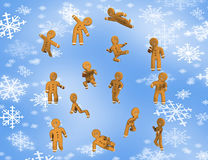Freedom Gingerbread are happy. stock illustration
