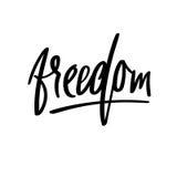 Freedom handwritten phrase. Vector ink illustration. Modern brush calligraphy. Isolated Royalty Free Stock Photo