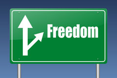 Freedom highway sign Stock Image