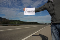 Freedom Hitchhiker royalty free stock image