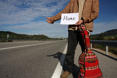 Freedom Hitchhiker Royalty Free Stock Photos
