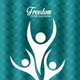 Freedom icons design Stock Photos