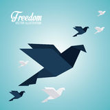 Freedom icons design Stock Images