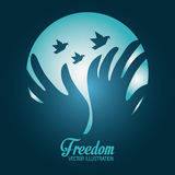 Freedom icons design Royalty Free Stock Photos
