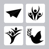 Freedom icons design Royalty Free Stock Photo