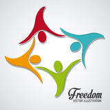 Freedom icons design Stock Photography