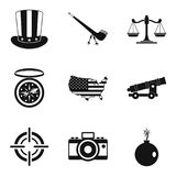 Freedom icons set, simple style Royalty Free Stock Photo