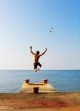 Freedom jump Stock Photo