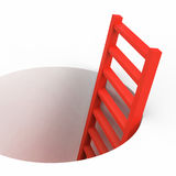Freedom Ladder Indicates Break Out And Climbing Royalty Free Stock Image