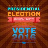 Freedom Liberty Presidential Election 2016. Election Day Campaign Ad Flyer. Freedom Liberty Social Promotion Banner. Presidential Election Vote 2016. American Stock Photography