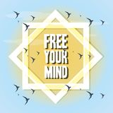 Freedom lifestyle design. Birds of freedom lifestyle and raised theme Vector illustration Royalty Free Stock Image
