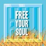 Freedom lifestyle design. Frame of freedom lifestyle and raised theme Vector illustration Royalty Free Stock Photo