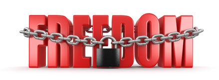 Freedom and lock (clipping path included) Stock Images