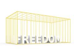 Freedom locked up Stock Image