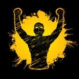 Freedom man, The Winner. Graphic vector Stock Image