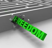 Freedom From Maze Shows Liberty Royalty Free Stock Photo
