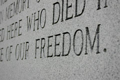 Freedom Monument Royalty Free Stock Photography