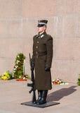 Freedom Monument Guard Stock Photo
