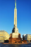 Freedom monument with honour guard in Riga, Latvia Stock Photos