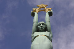 Freedom monument in Riga, Latvia Royalty Free Stock Image
