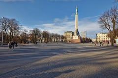 Freedom monument in Riga, Latvia Stock Images