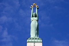 The Freedom Monument in Riga Stock Images