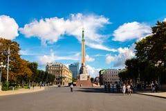 Freedom monument in Riga, Latvia Royalty Free Stock Photos
