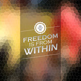 Freedom is from within Royalty Free Stock Photography